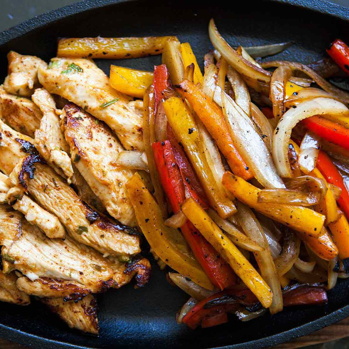 Chicken Fajitas Recipe {with Homemade Marinade}