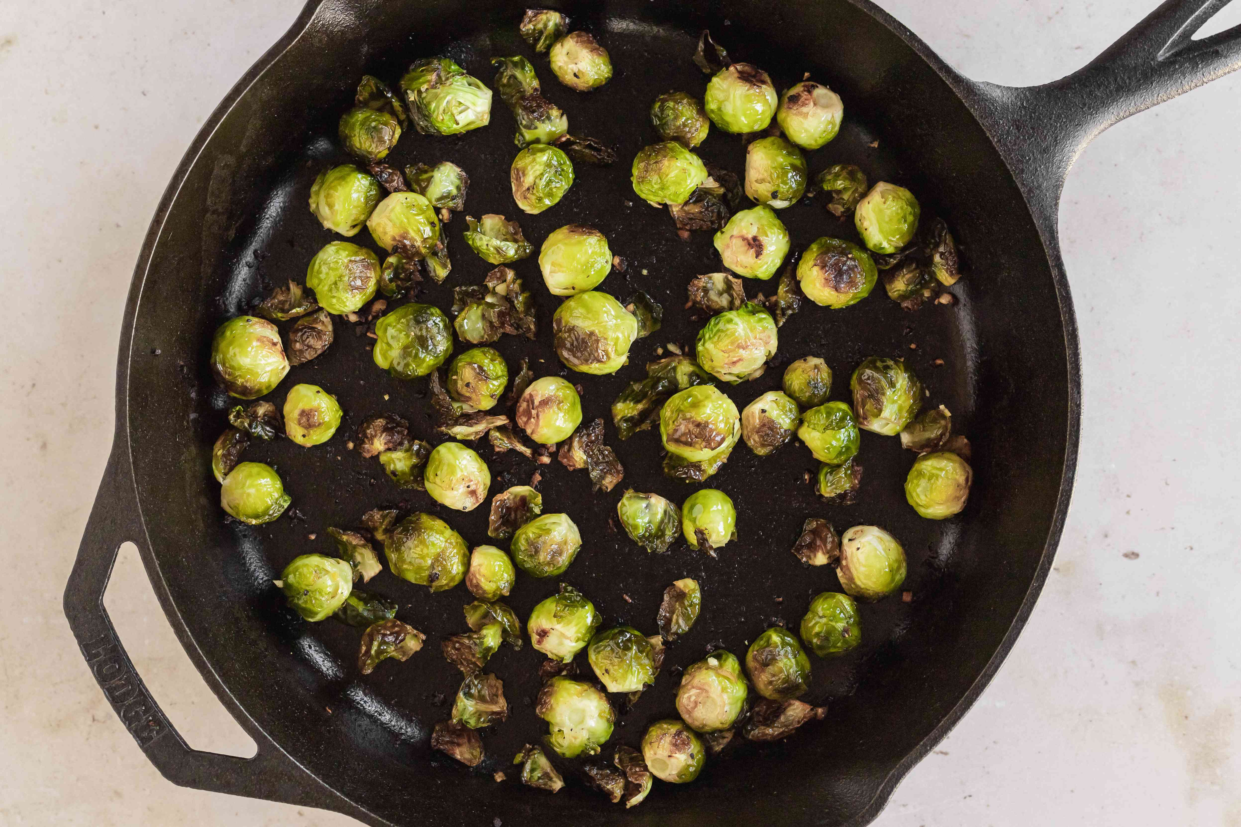 The best brussel sprouts recipe using a cast iron skillet.
