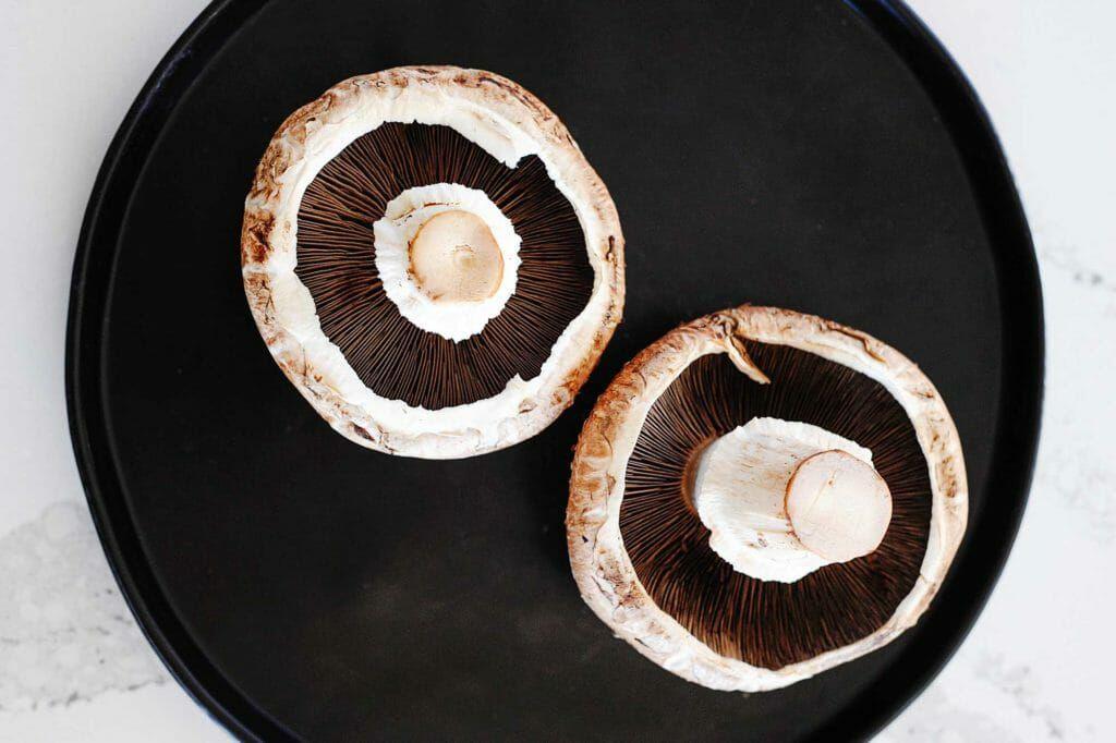 underside of portobello mushrooms