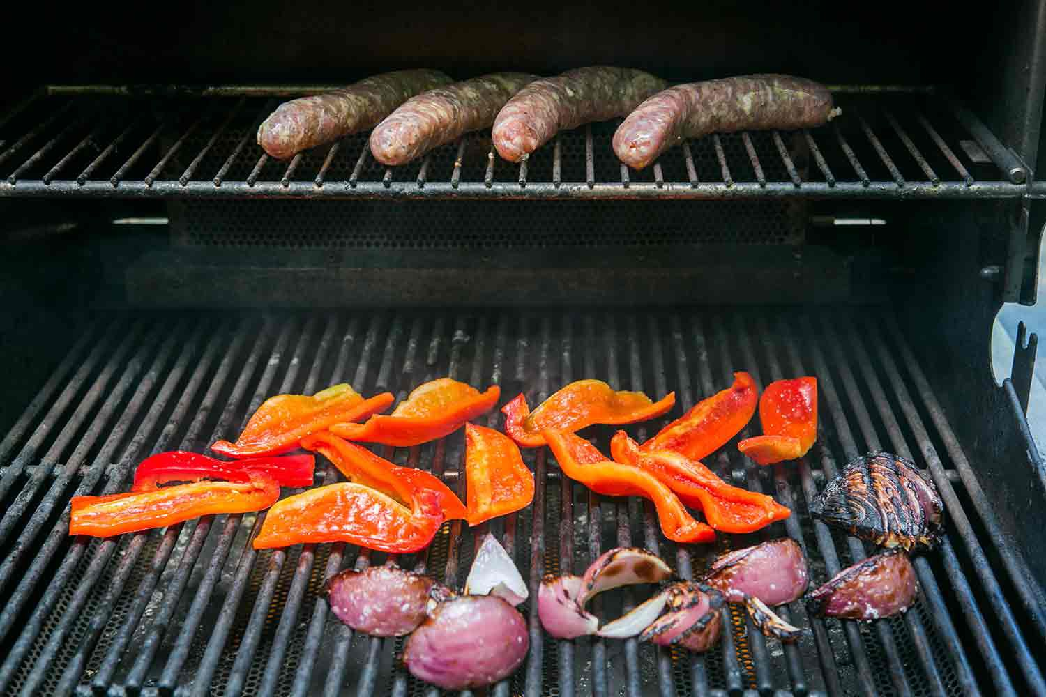 how to grill italian sausage with bell peppers and onions