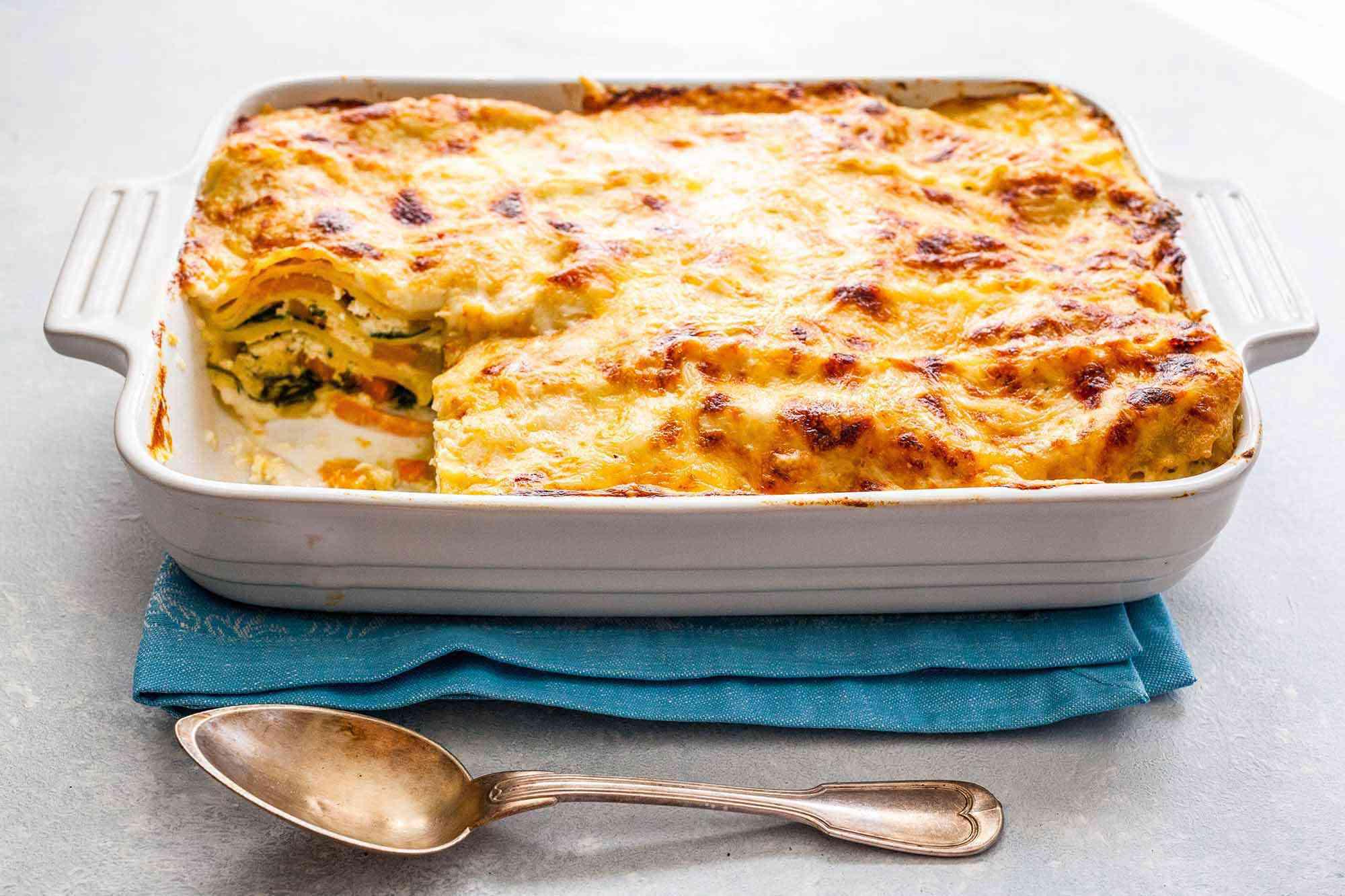 Vegetarian Lasagna Recipe bake until golden brown and bubbly