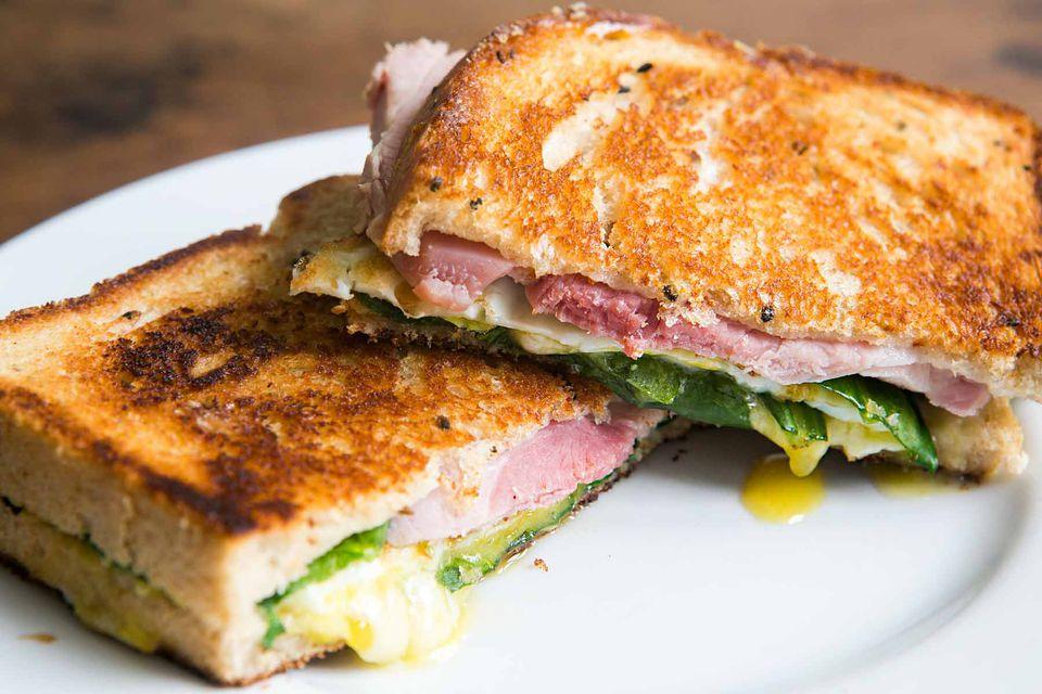 Greens Eggs Ham Sandwich
