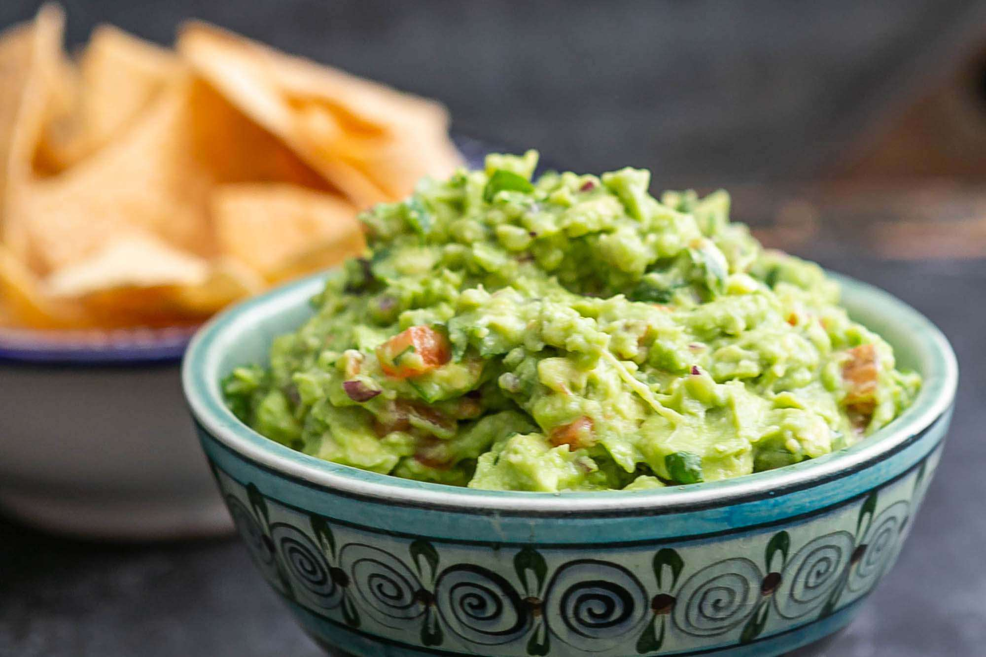 Our best guacamole, served with chips
