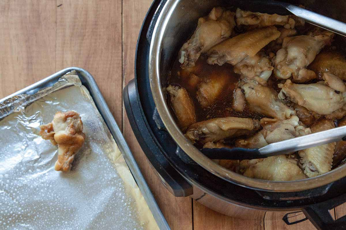 Chicken Wings in the Instant Pot broil the wings