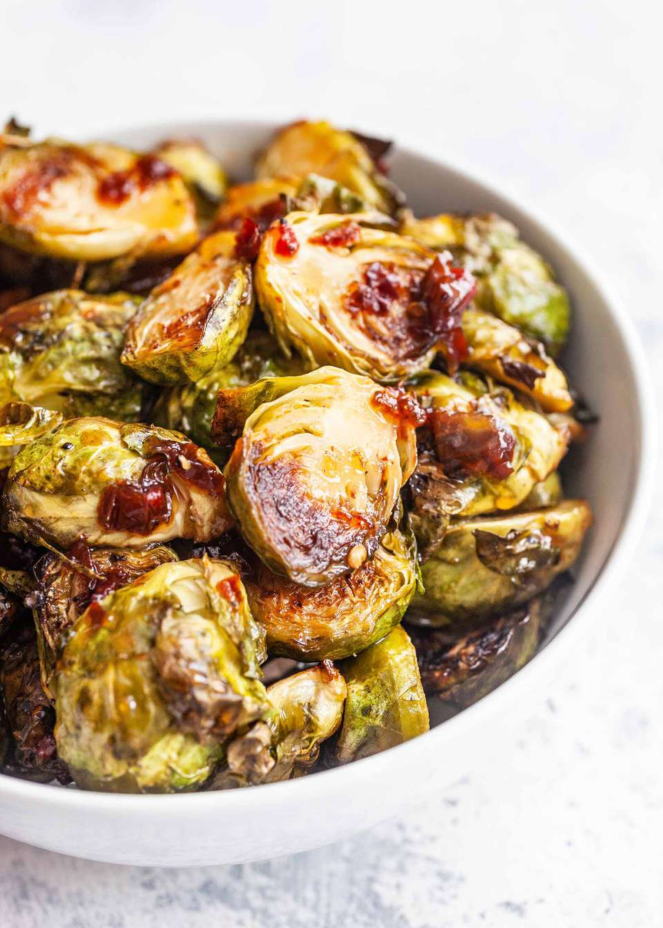 Roasted Brussel Sprouts with Chipotle