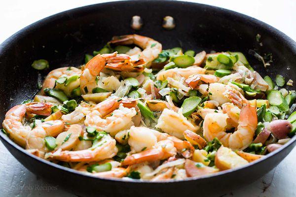 Skillet Shrimp Asparagus
