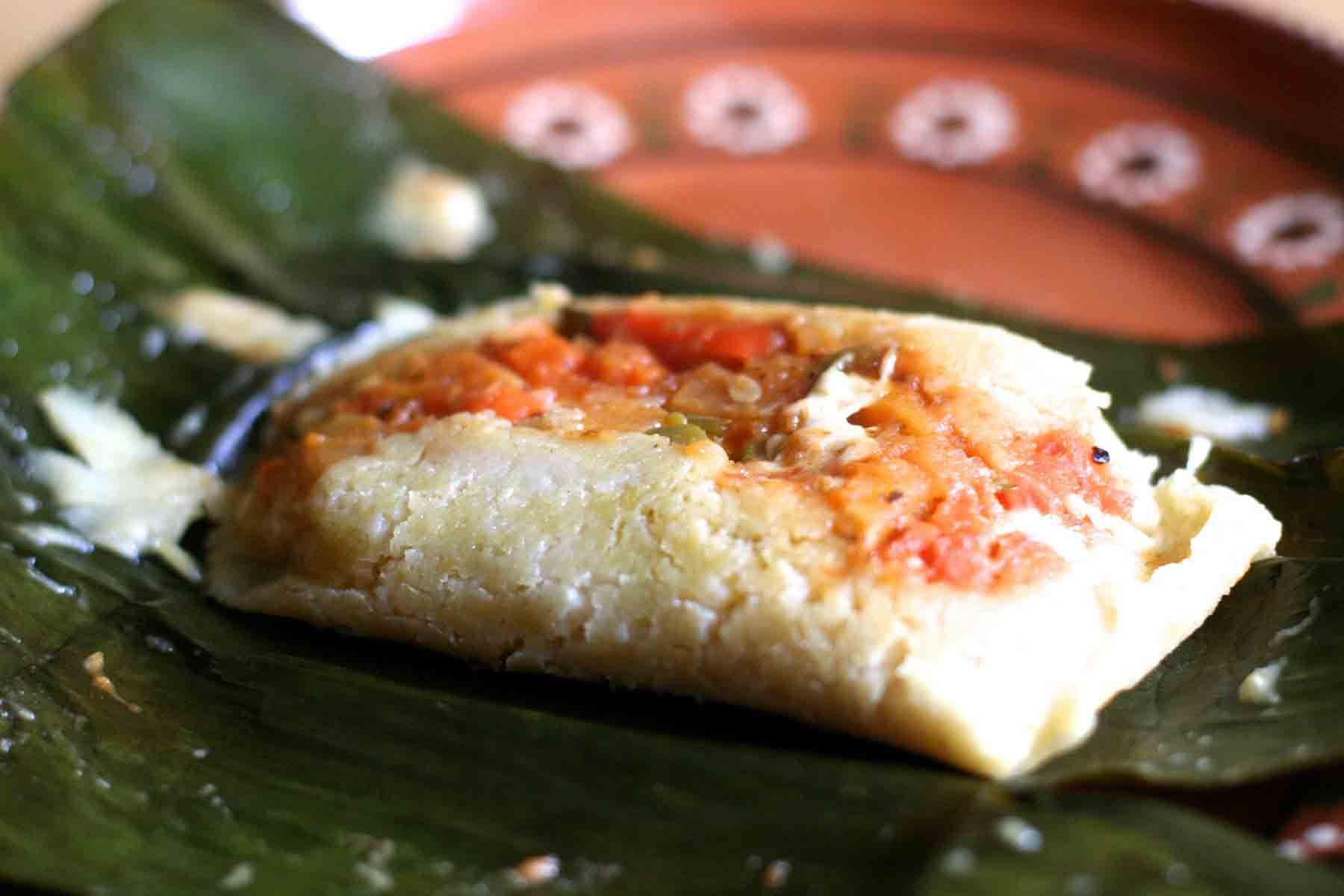vegetarian banana leaf tamales