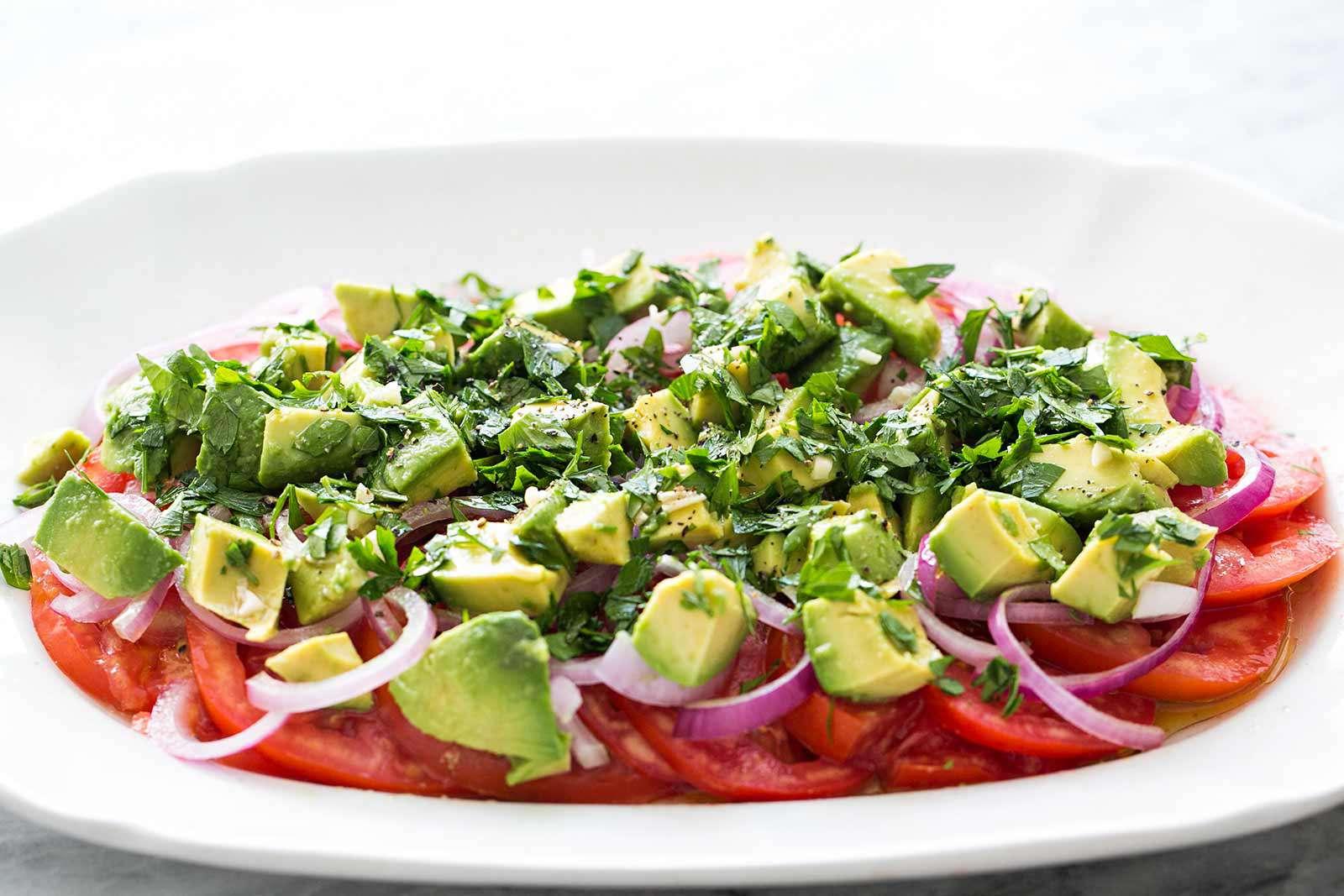 Tomato Onion Avocado Salad