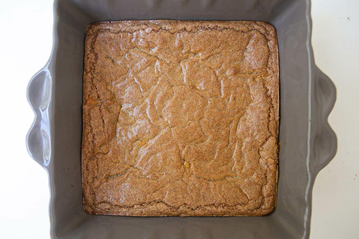 Bake the blondies until set