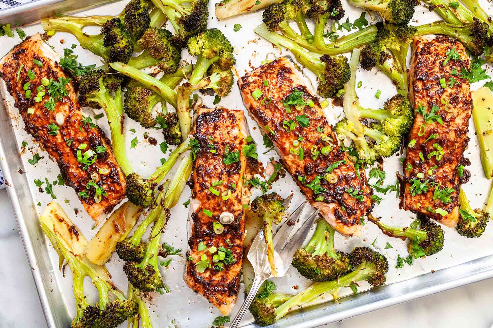 Sheet Pan Salmon with Broccoli - Ring the dinner bell!