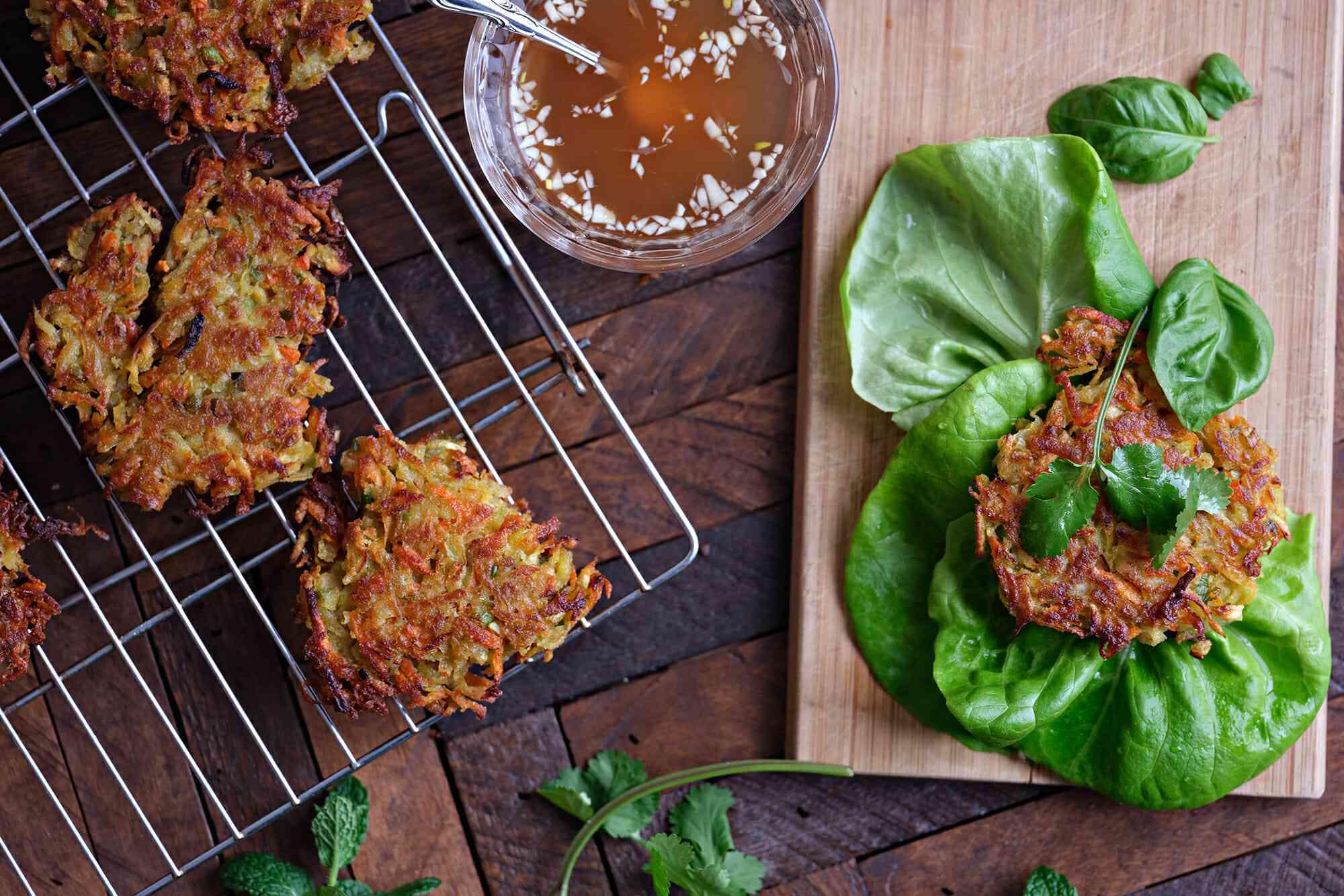 Vietnamese Lettuce Wraps with Sweet Potato