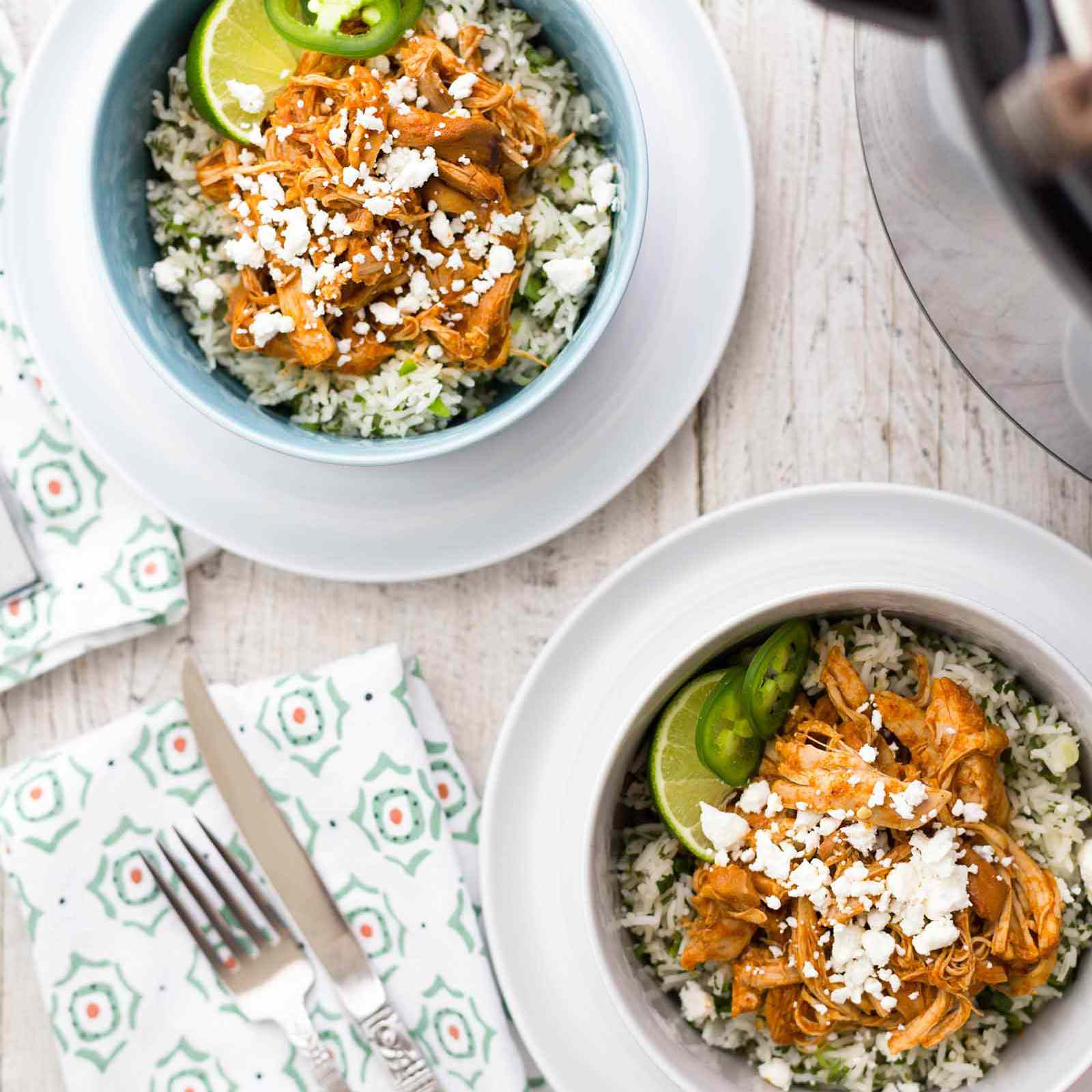 Pressure Cooker Chipotle Chicken and Rice Bowls