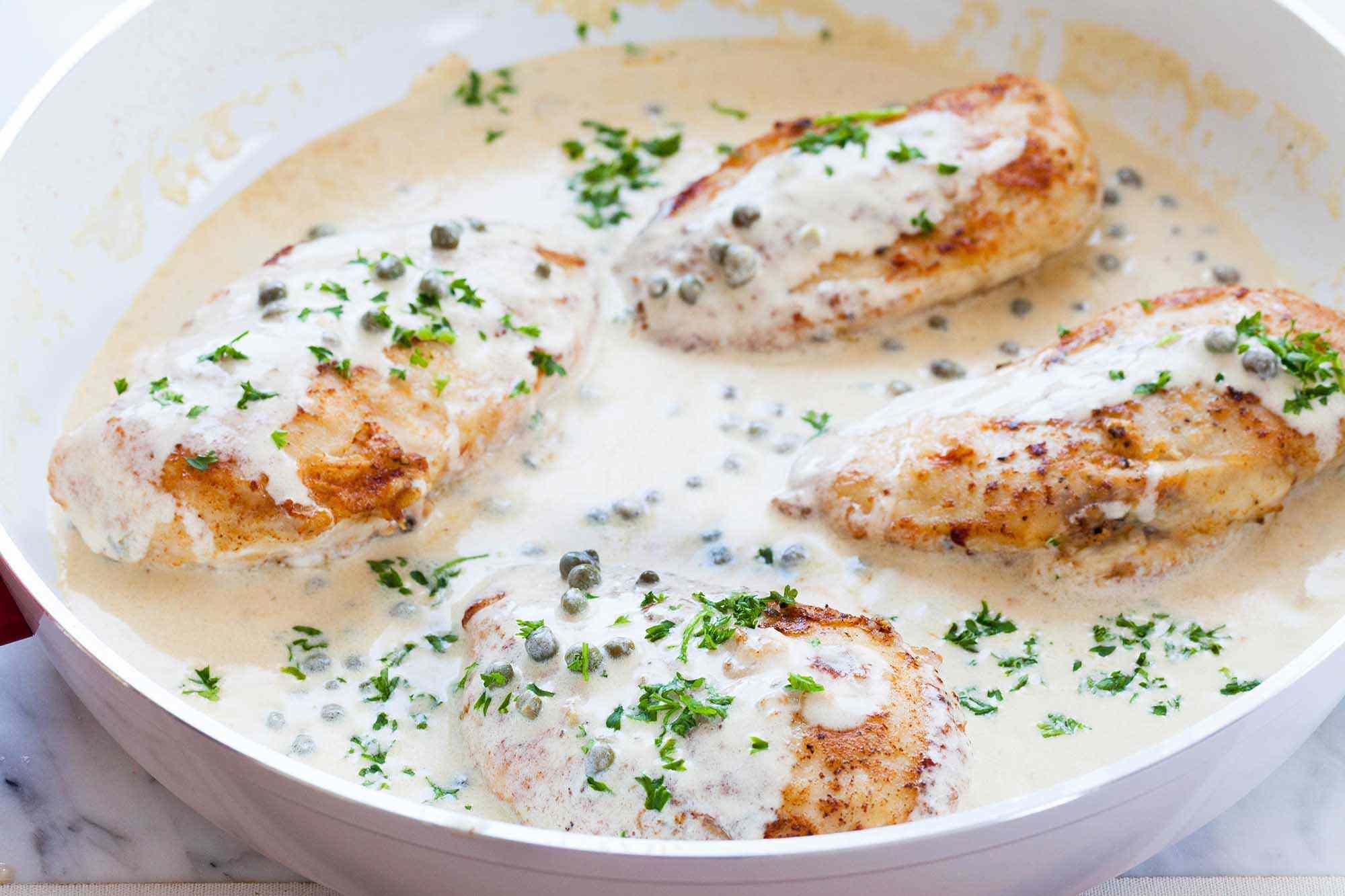 Chicken Breasts with Mustard Cream Sauce