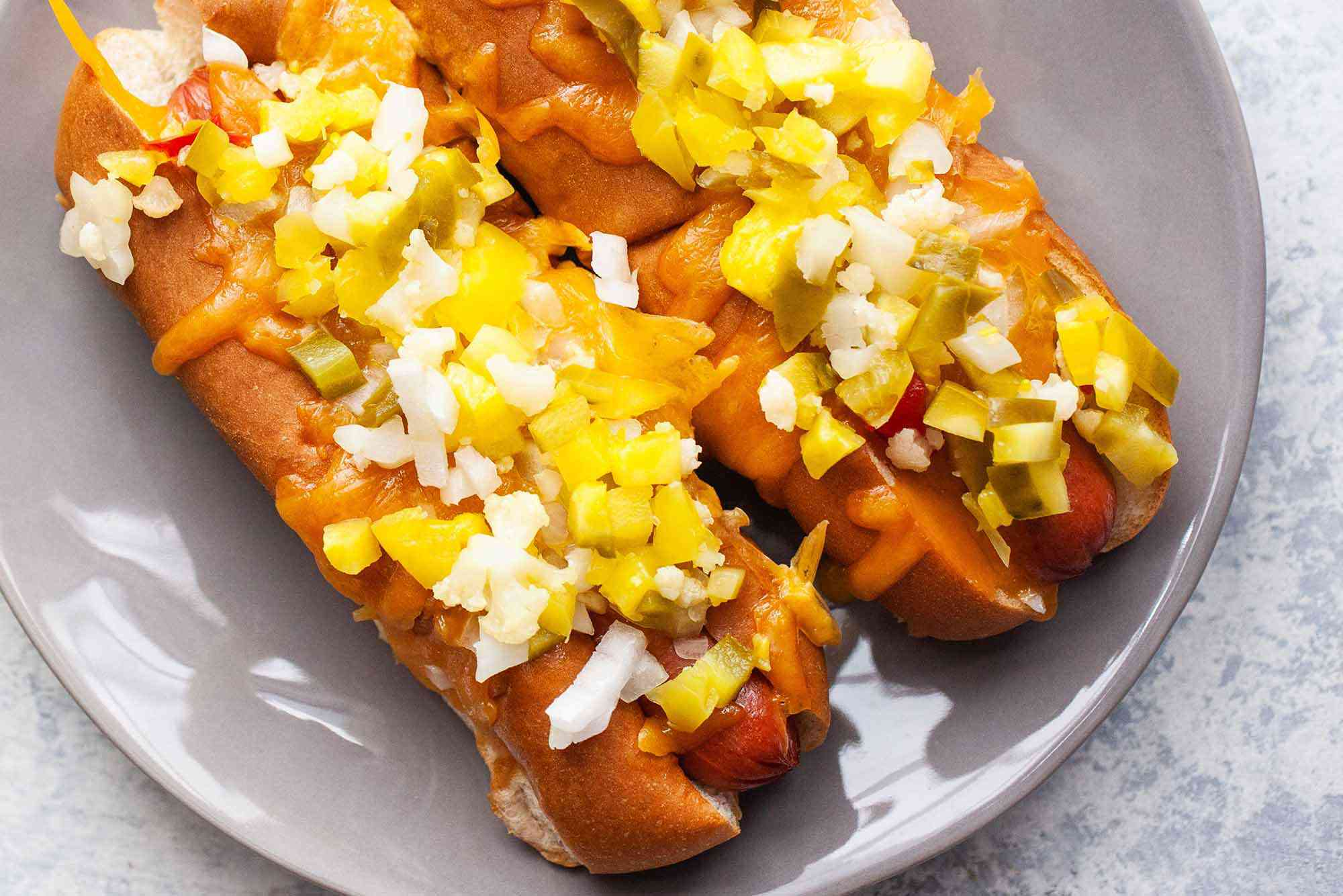 Hot Dog Recipe with Cheese serve the dogs