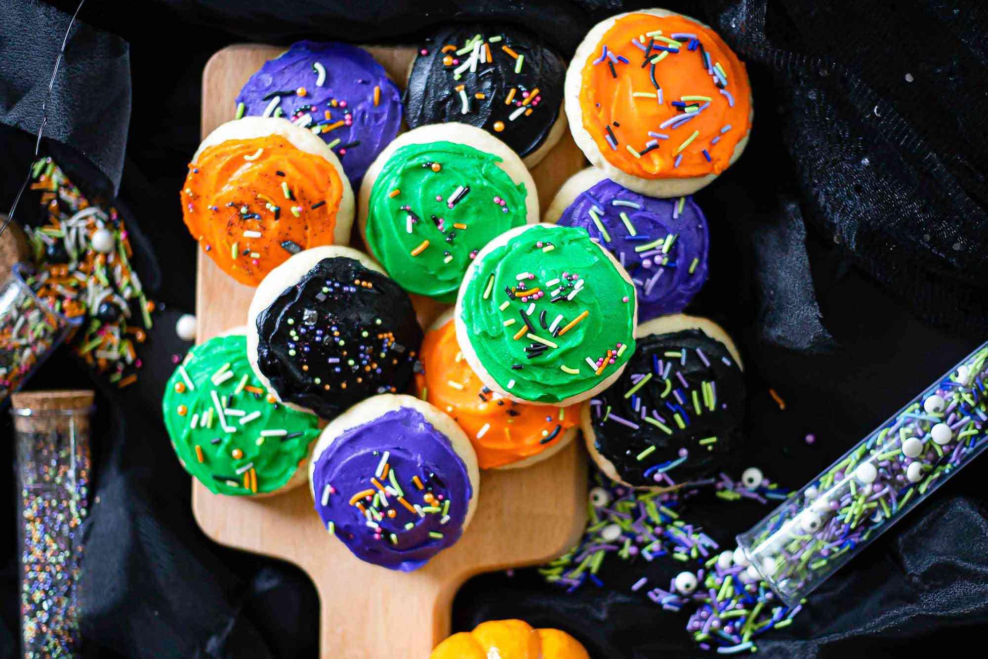 Lofthouse-style spooky sugar cookies
