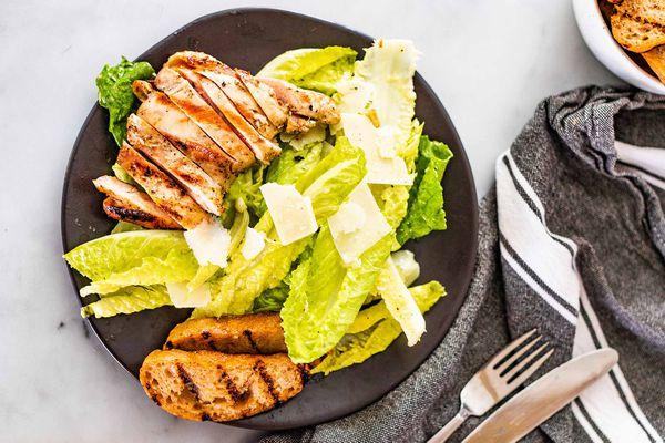 Caesar Salad with Grilled Chicken Recipe