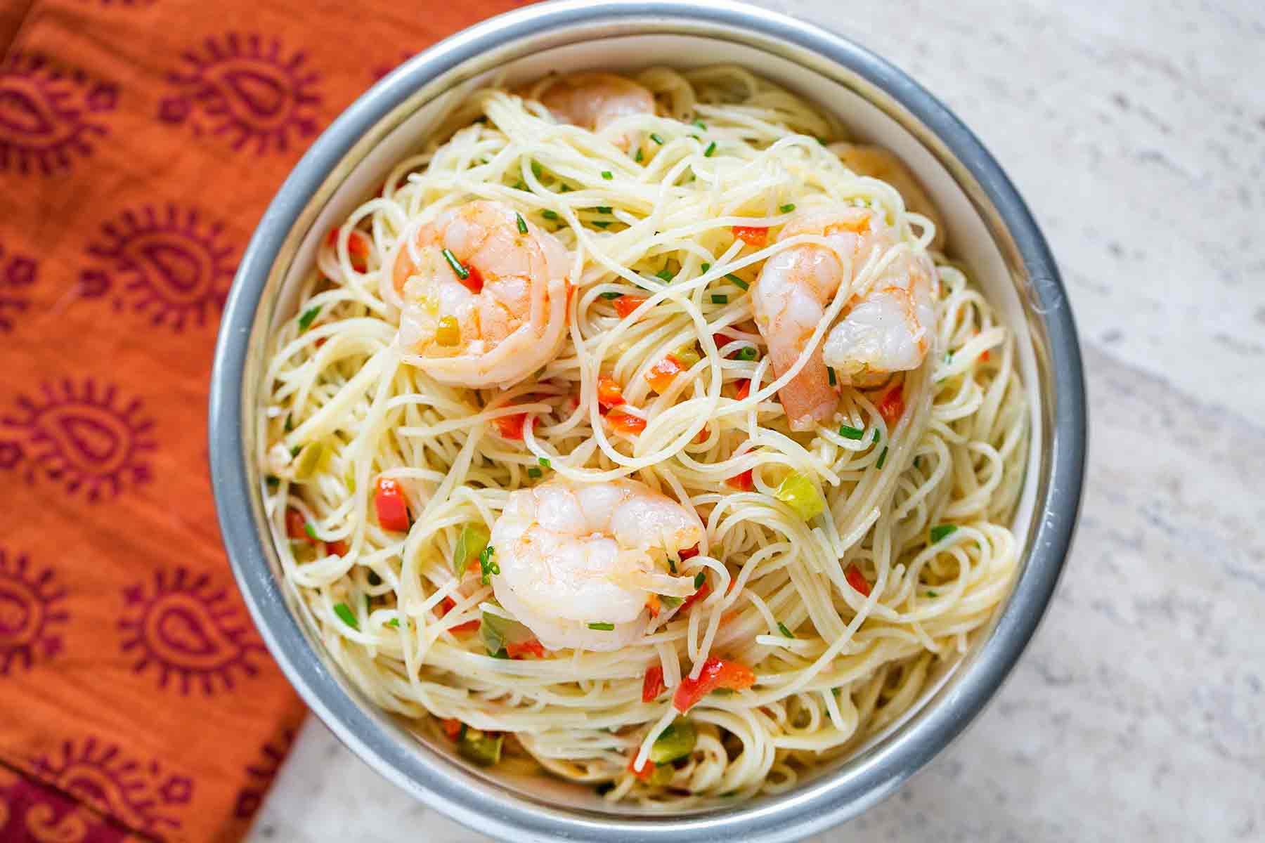 Shrimp with Angel Hair Pasta