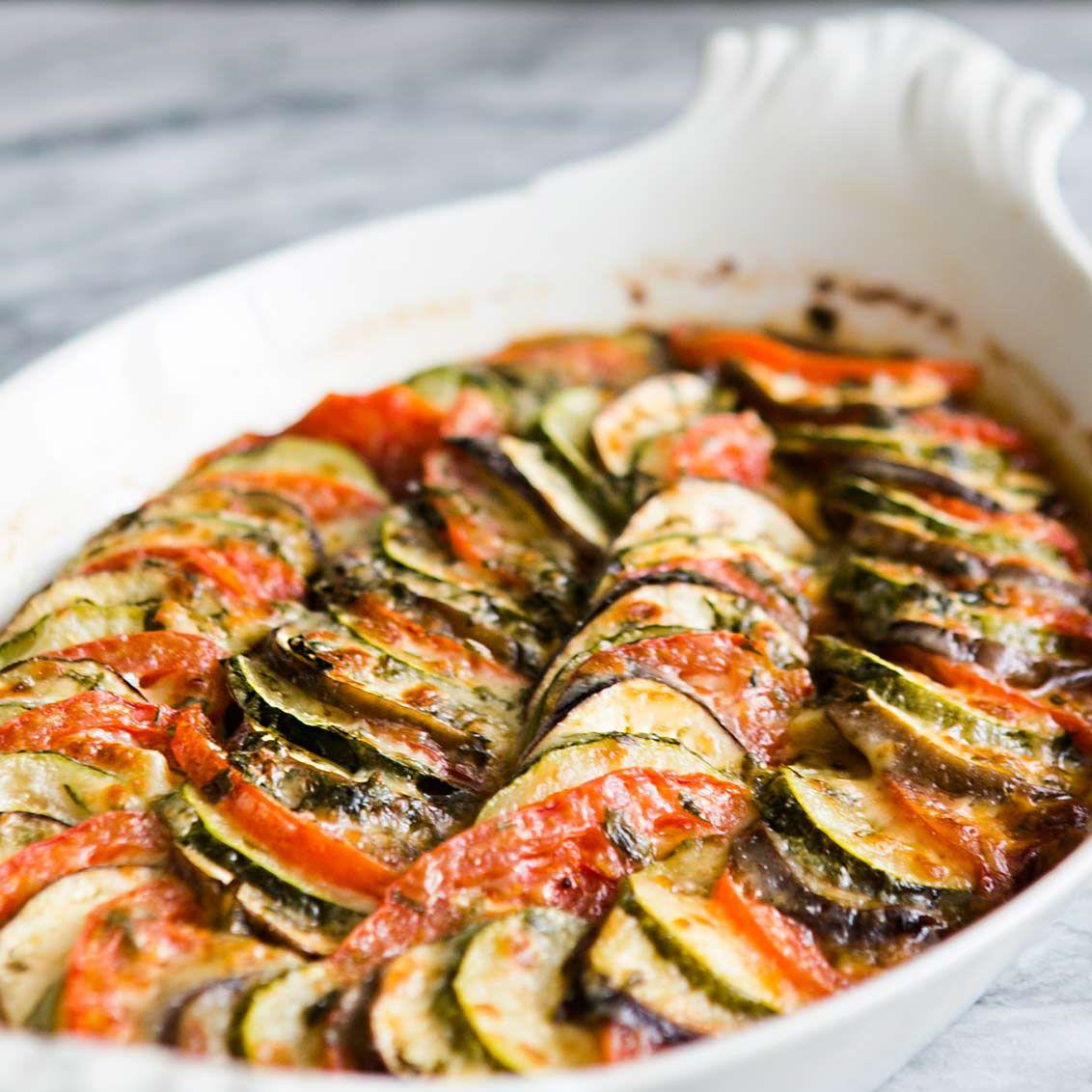 Zucchini Eggplant Tomato Gratin