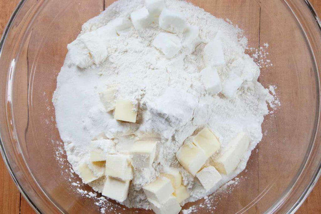 Cut in butter for angel biscuit recipe