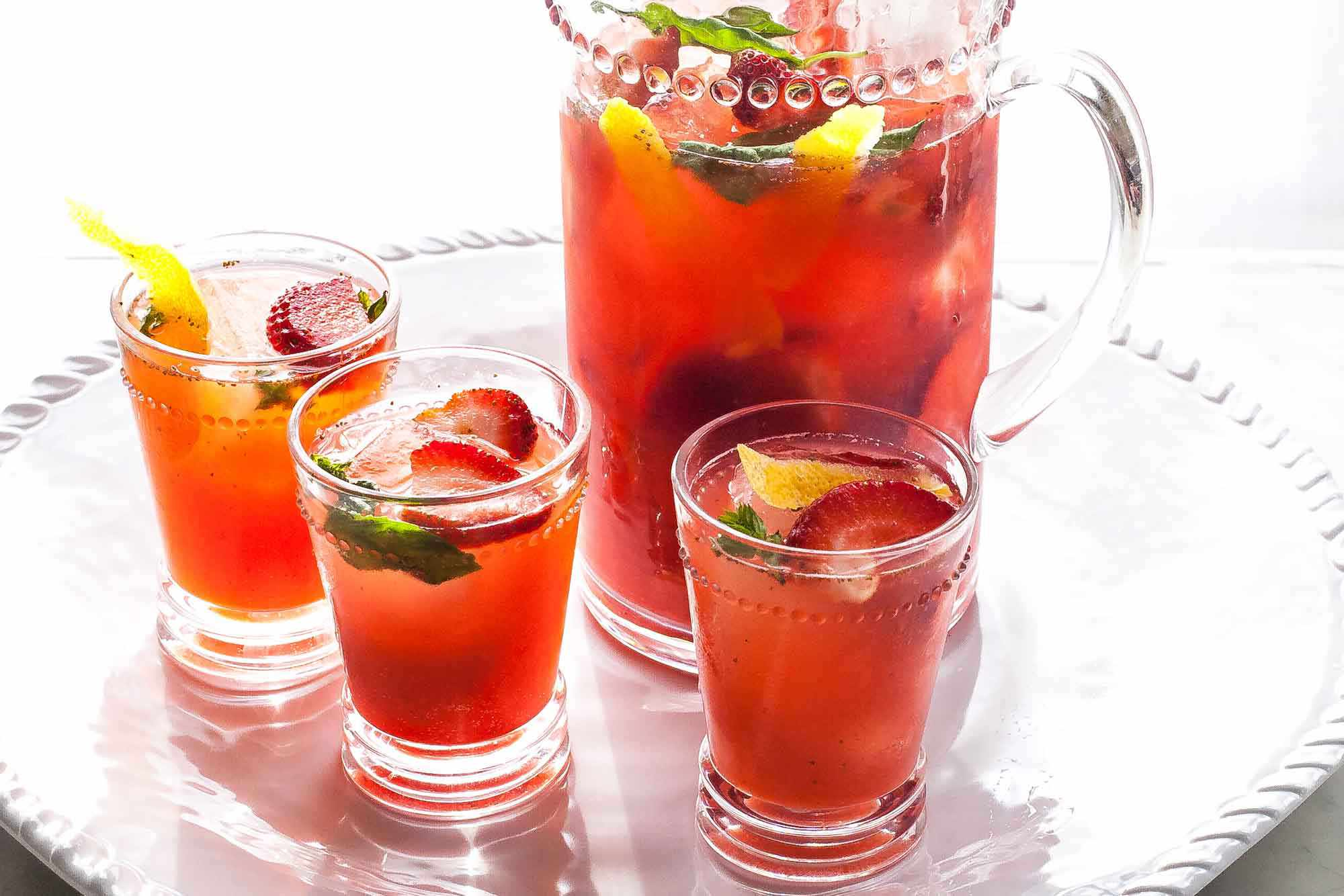 Strawberry Wine Spritzer serve the sangria