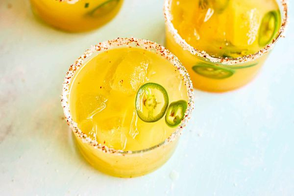 Margaritas with Pineapple and Jalapeno
