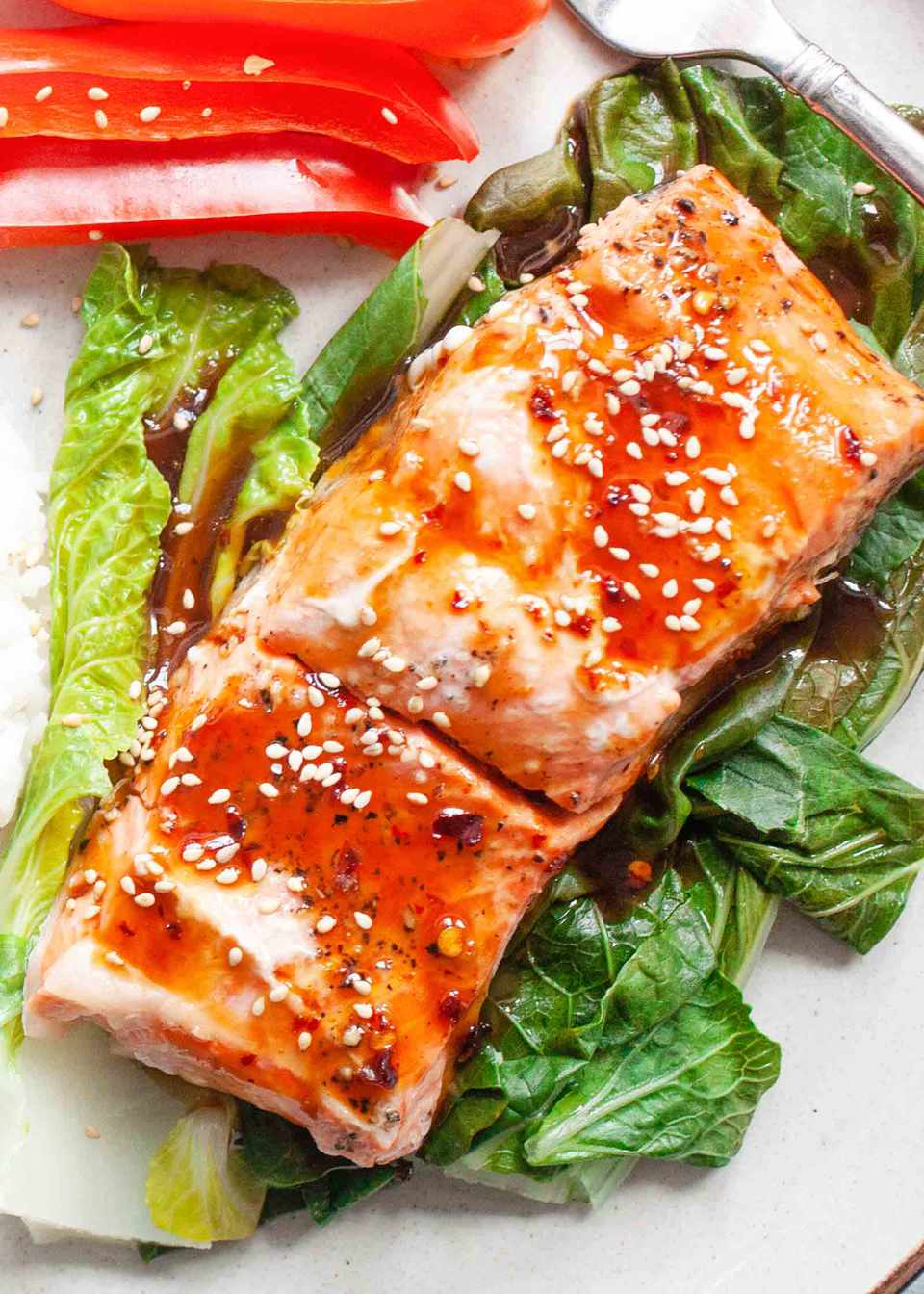 Steamed Ginger Salmon with Ginger Sauce