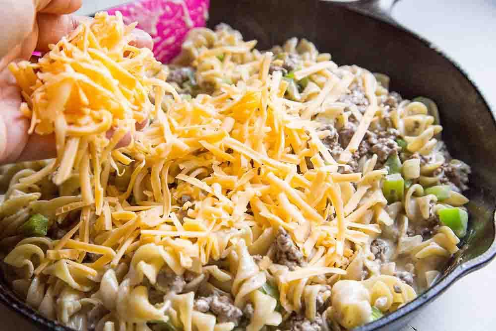 Philly Cheesesteak Pasta Skillet