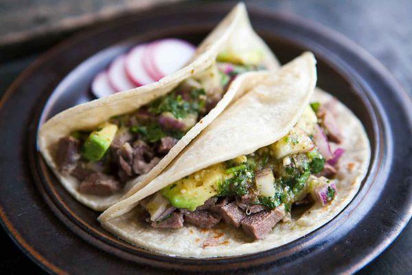 Mexican Beef Tongue Tacos