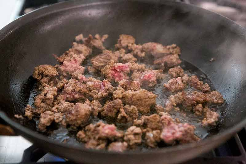 Best Sloppy Joe Recipe brown the meat on the other side