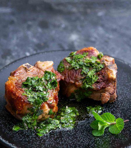 lamb loin chops recipe with mint Lamb Loin Chops with Mint Chimichurri