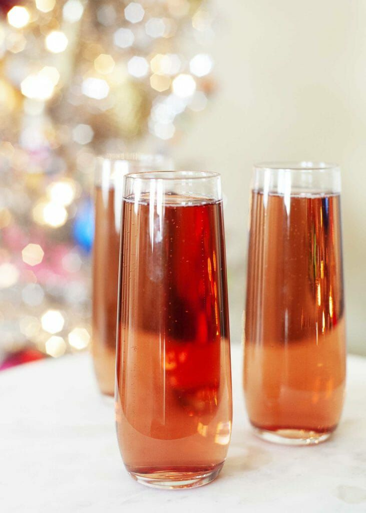 Champagne Cocktail with Chambord