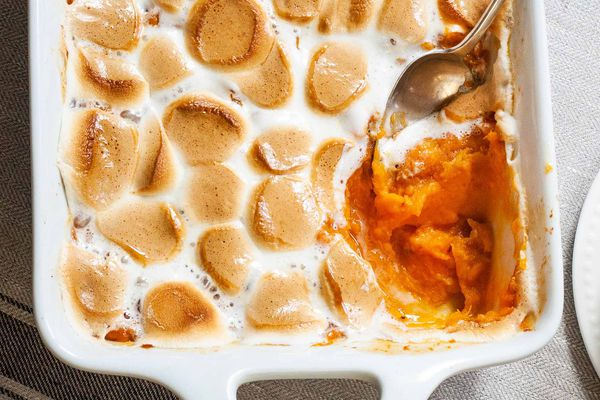 Make Ahead Sweet Potato Casserole with Marshmallows