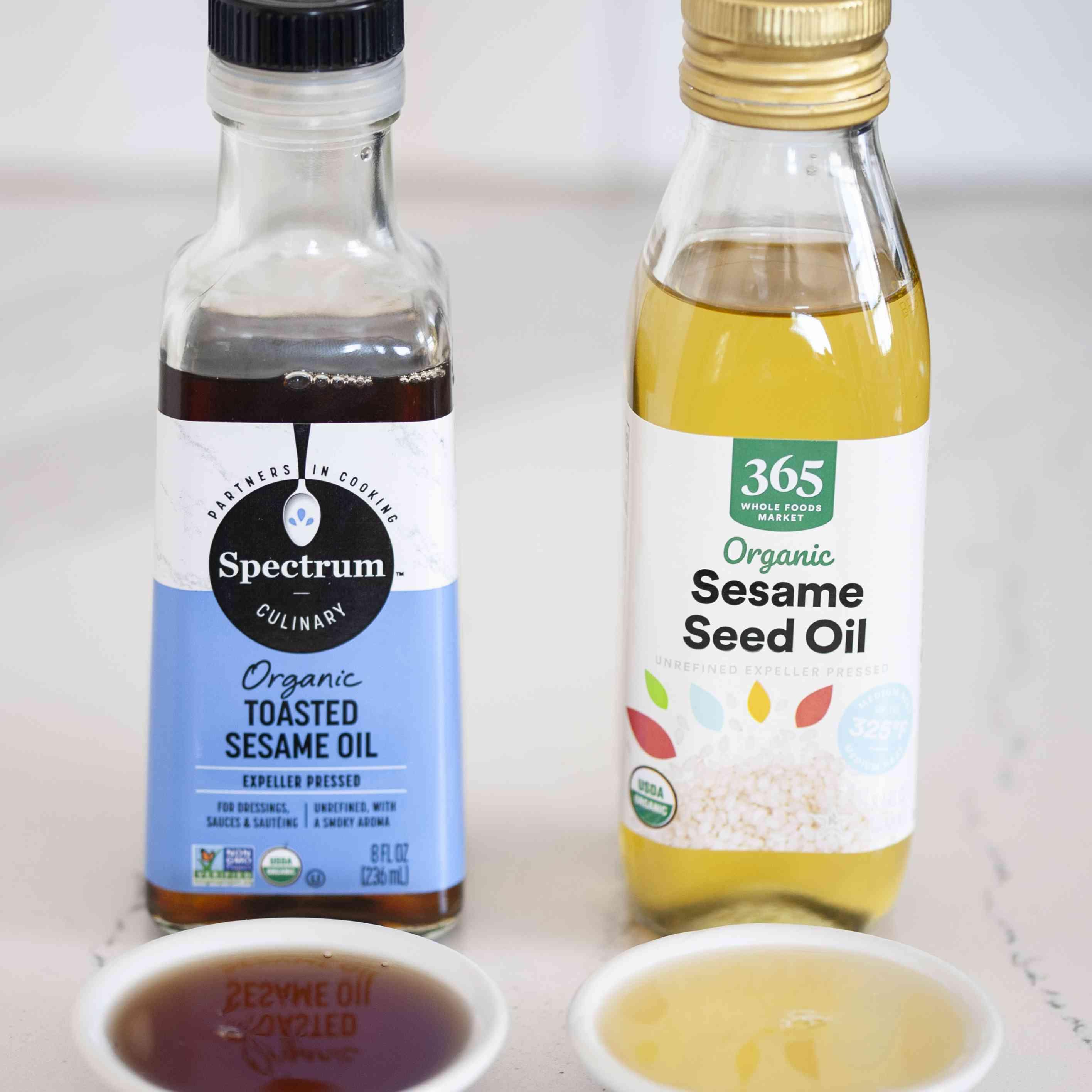 Toasted vs regular sesame seed oil