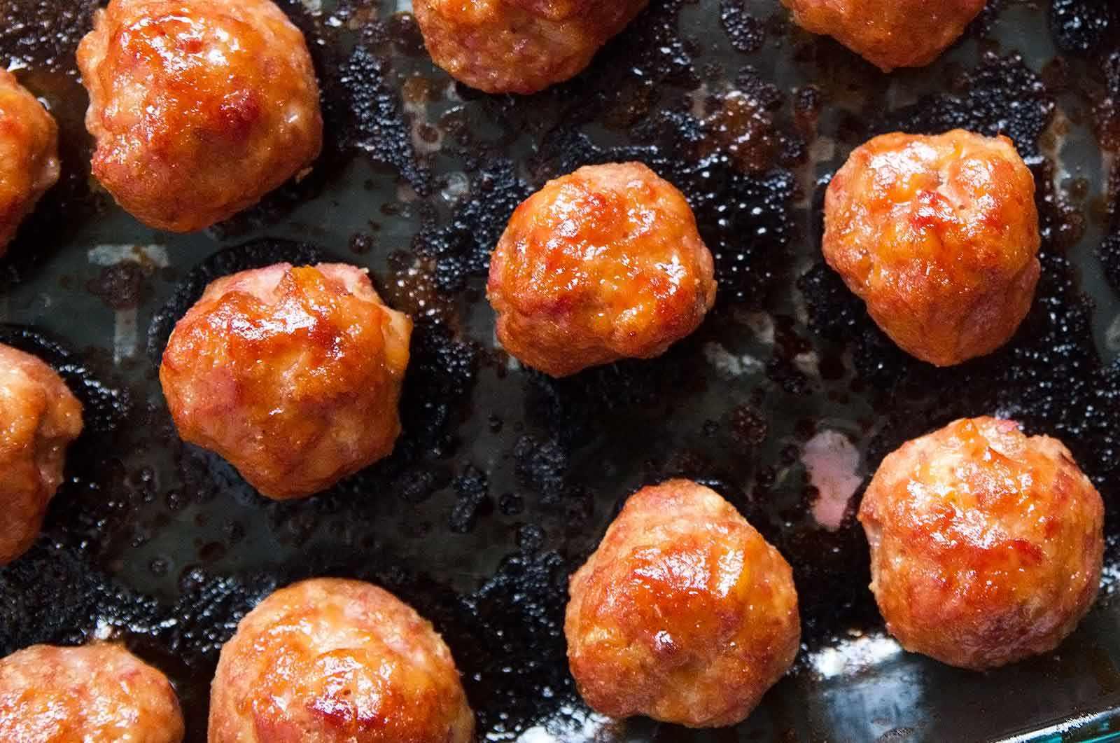 Pineapple Glazed Ham Balls
