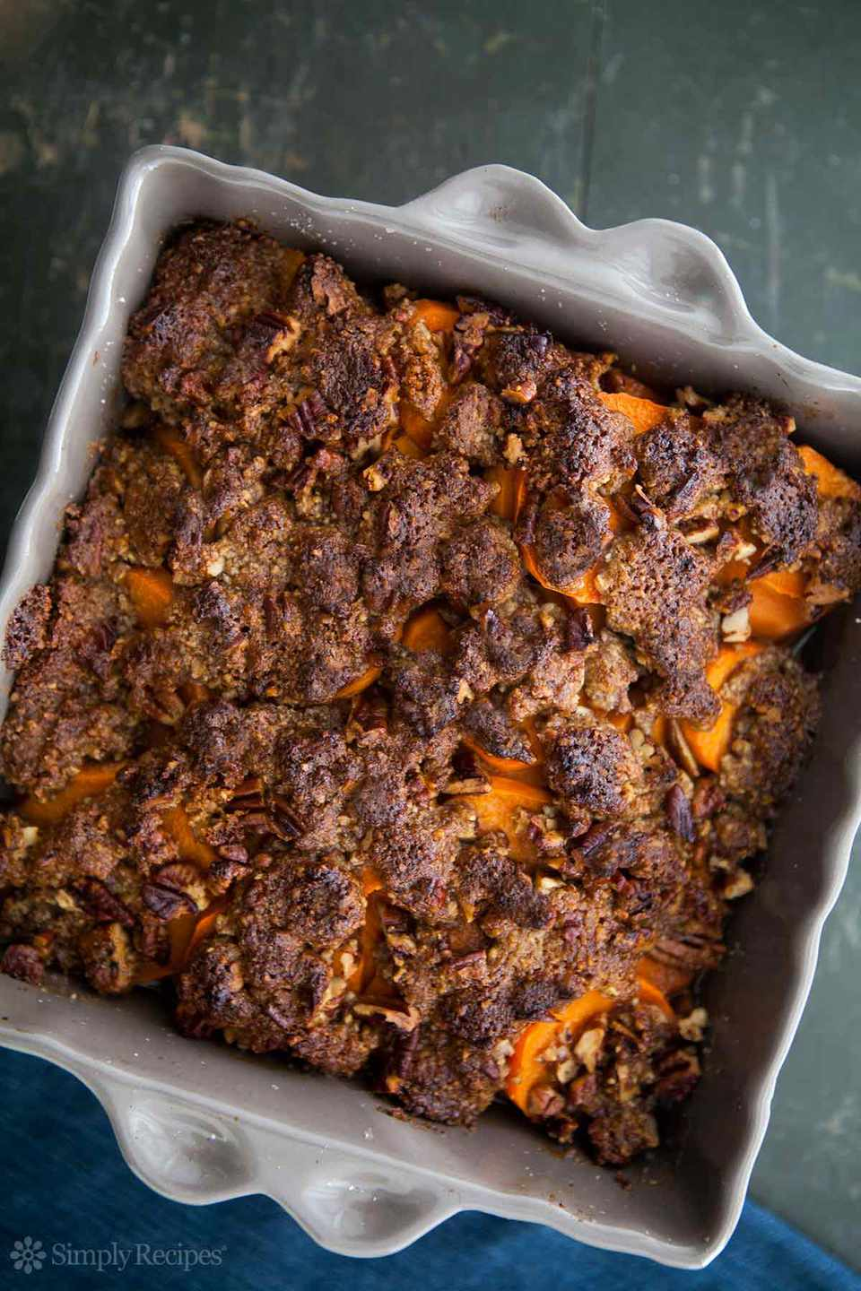 Maple Glazed Yams Pecan Topping
