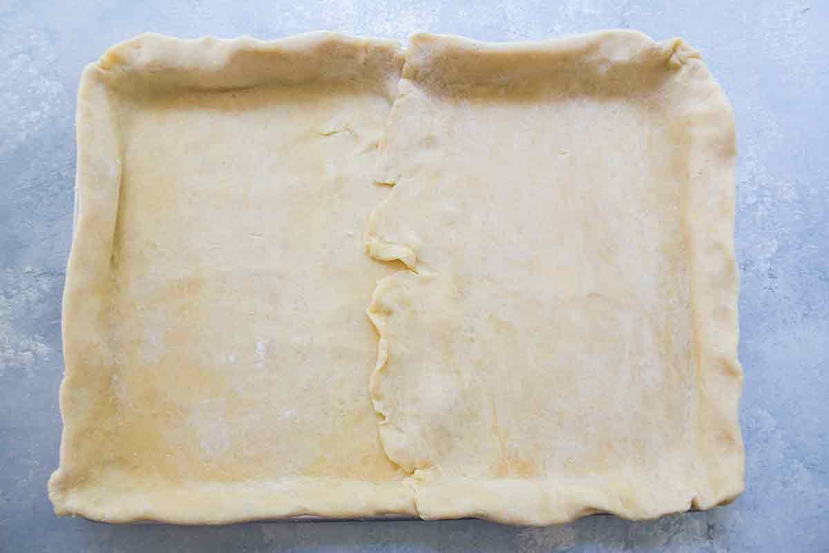 roll out bottom crust for american flag slab pie, part 2