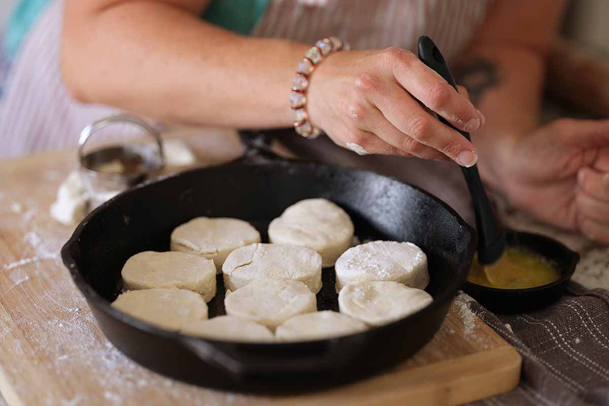 Easy Gluten Free Biscuit Recipe load up the pan