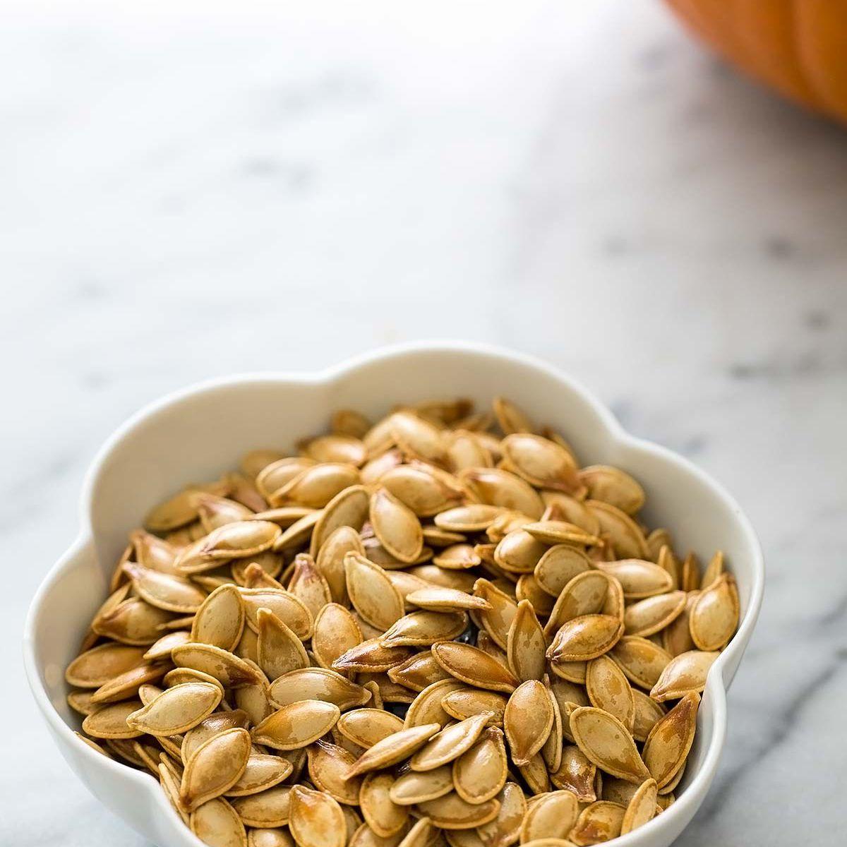 Roasted Pumpkin Seeds In Bowl