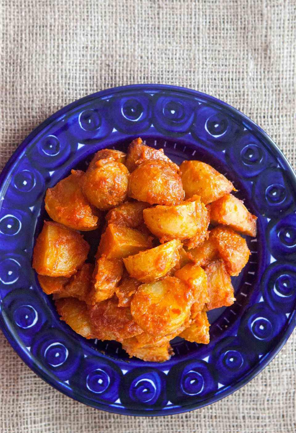 Patatas Bravas, Spanish Roasted Potatoes