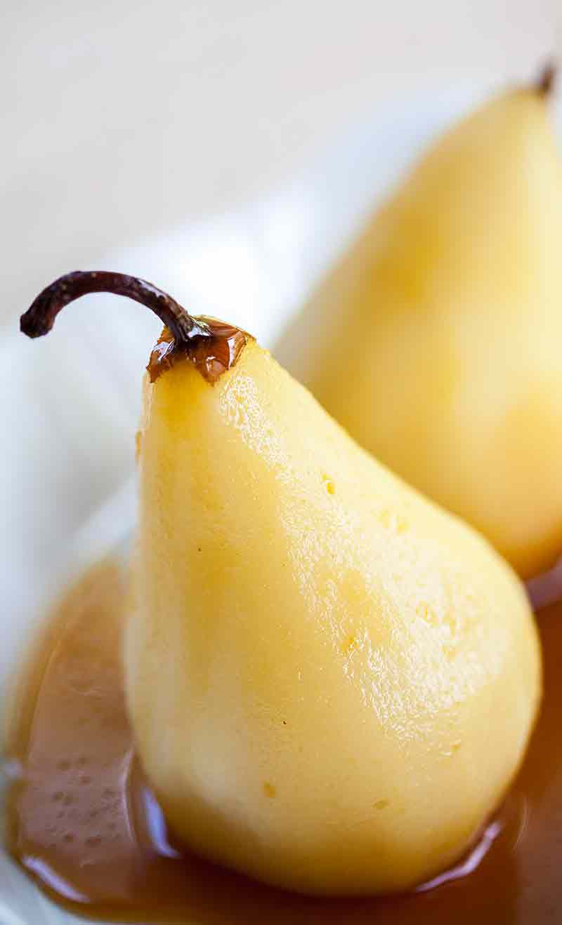 poached pears in marsala