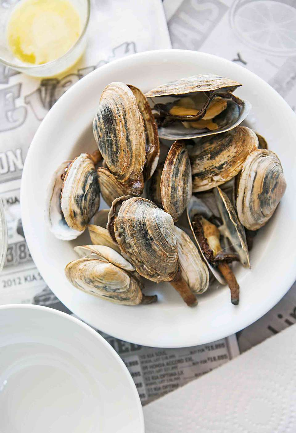 New England Steamers or soft shell steamed clams