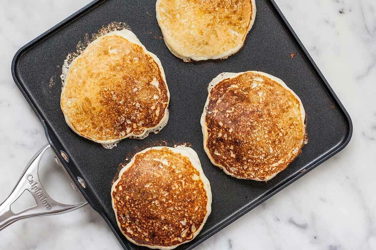 Buttermilk Pancake Recipe cook the pancakes