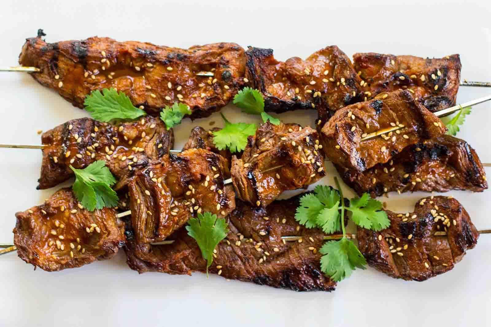 Korean Beef Skewers