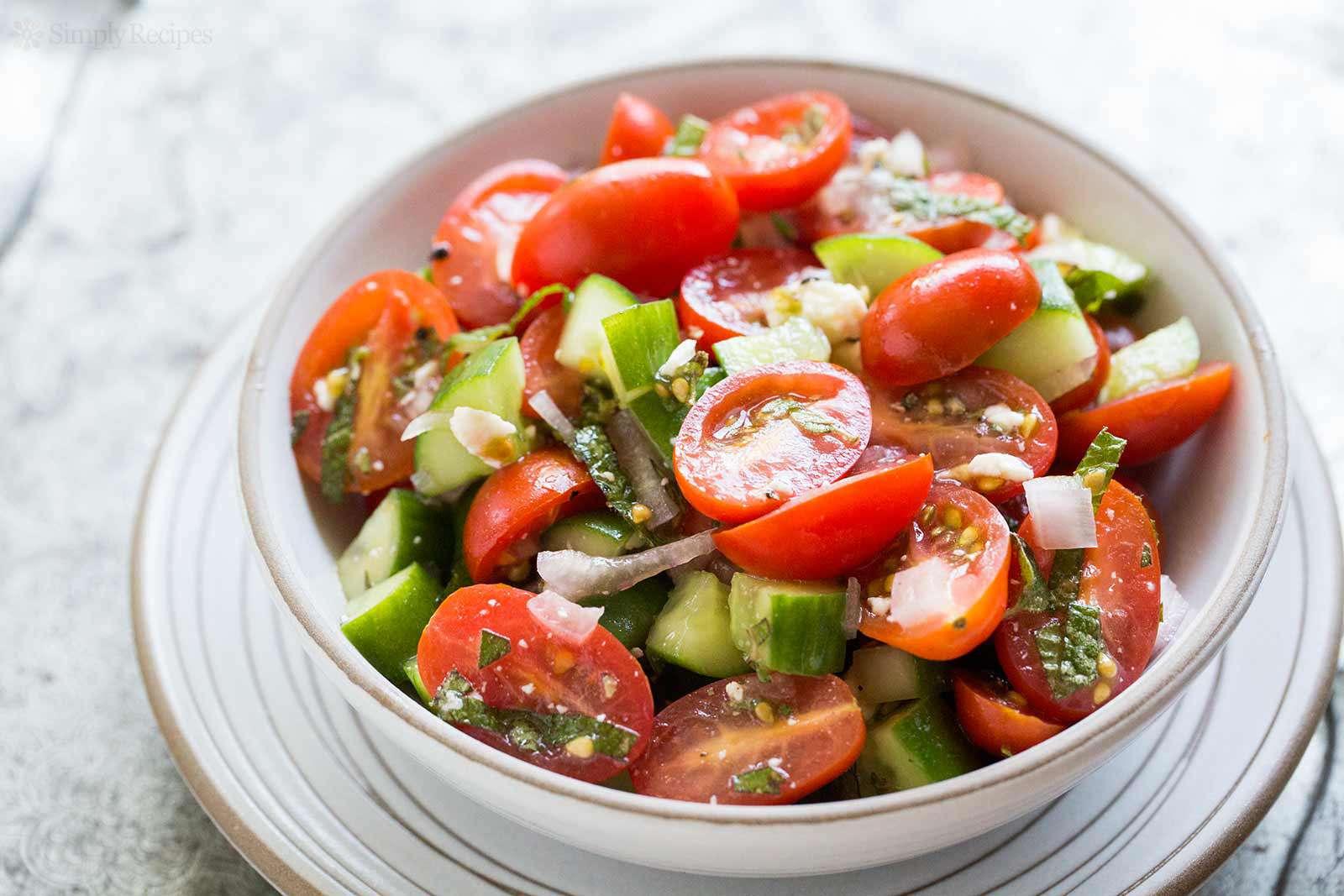 Tomato Cucumber Feta Salad