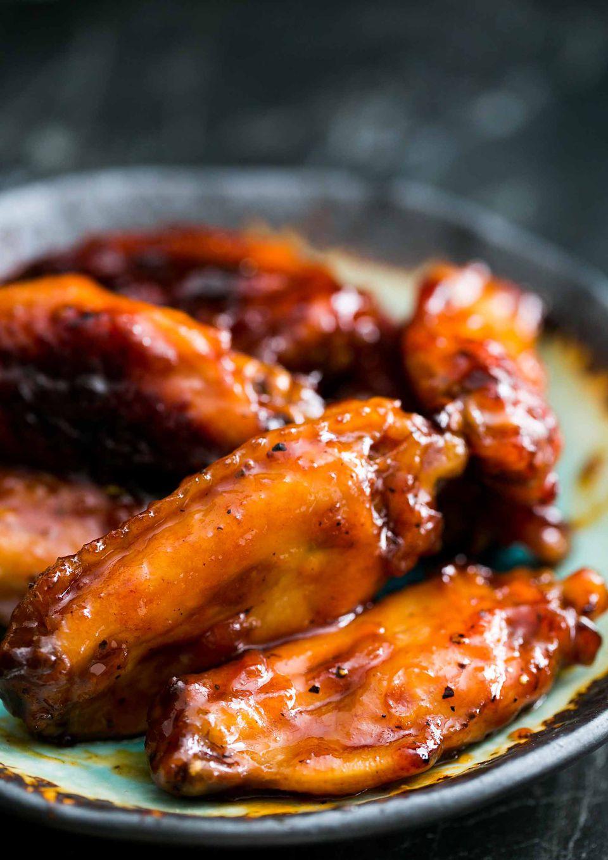 Bourbon Maple Glazed Chicken Wings
