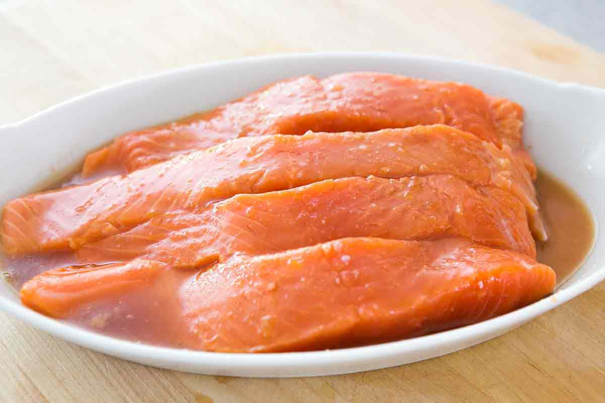 marinating salmon filets for honey glazed salmon recipe
