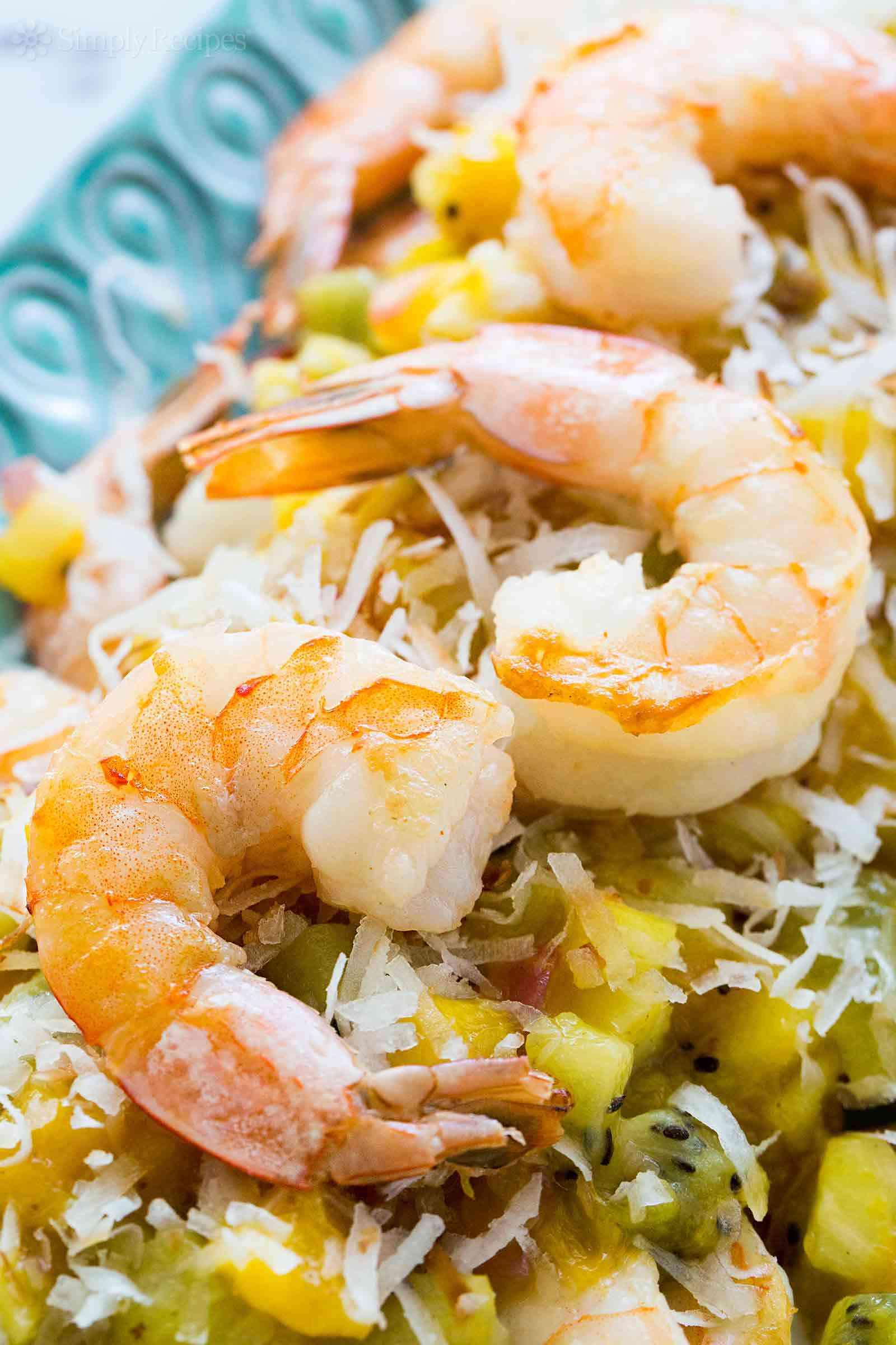 Sautéed Shrimp with Tropical Salsa