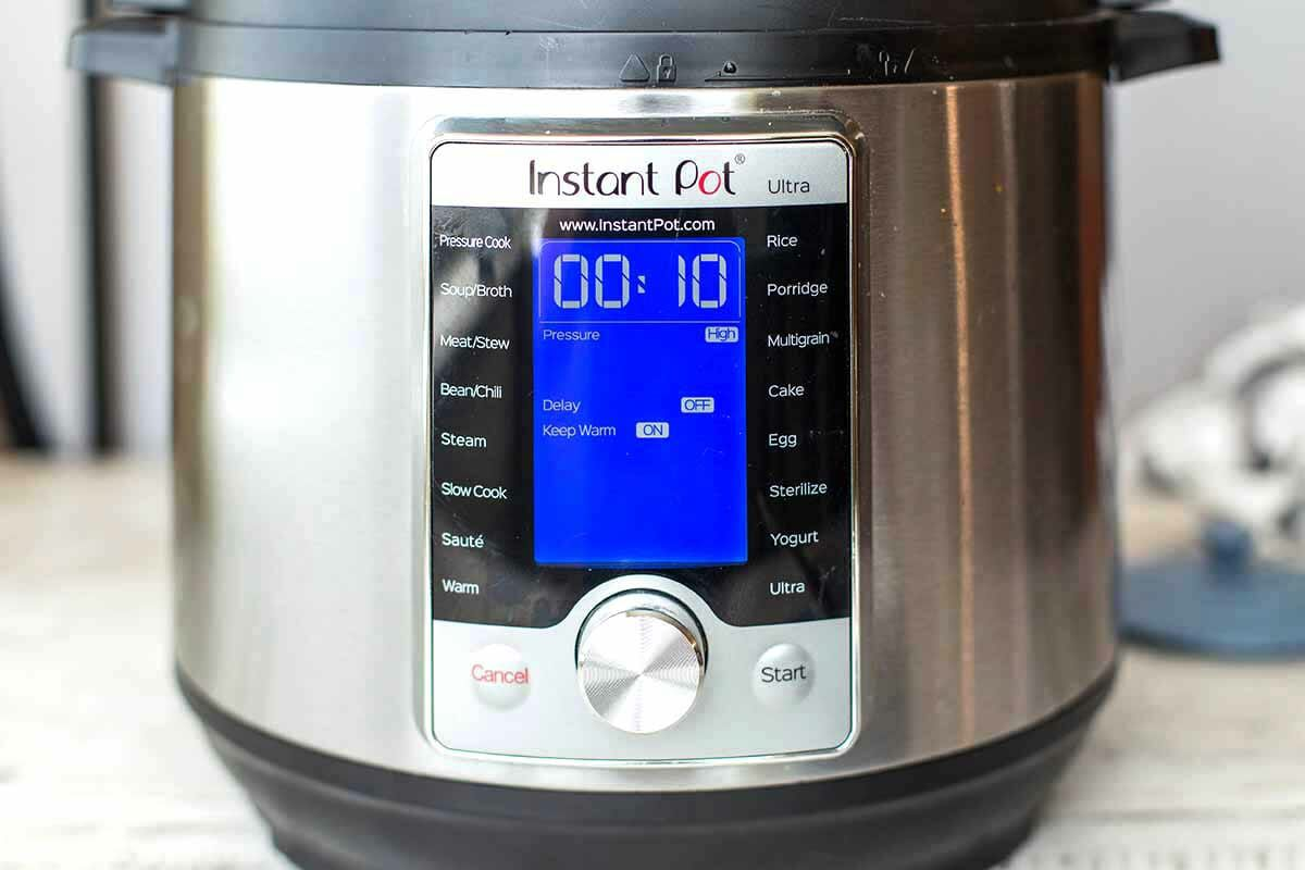 Cook the instant pot chicken for 10 min
