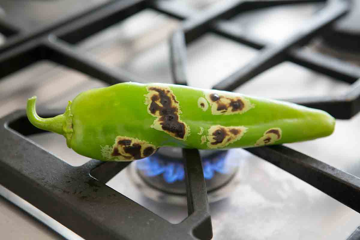 allow green chile to char