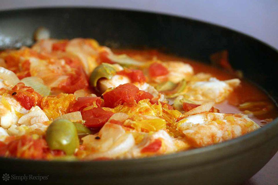 Ling Cod Tomato Orange
